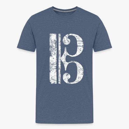 C-Schlüssel für Bratsche, Viola, Cello und Posaune - Teenager Premium T-Shirt