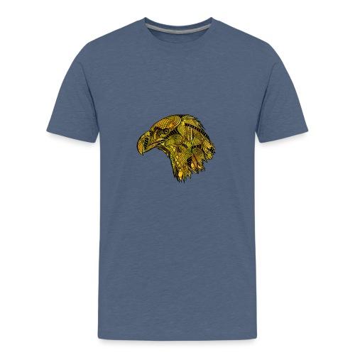 Gul ørn - Premium T-skjorte for tenåringer