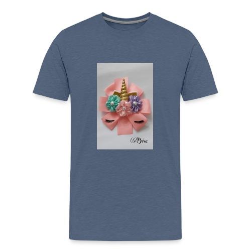 Moño de unicornio - Camiseta premium adolescente