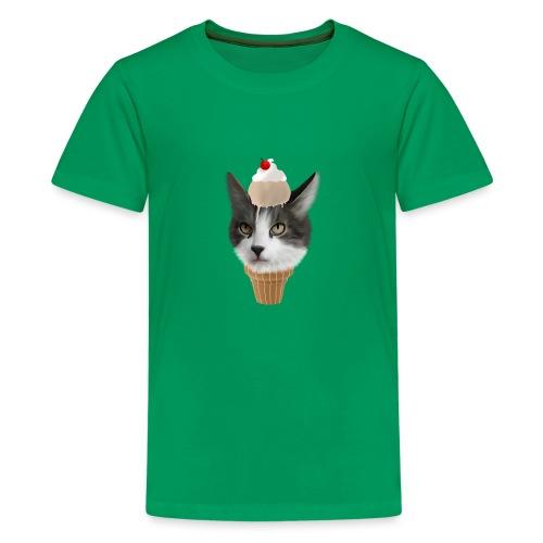 Ice Cream Cat - Teenager Premium T-Shirt