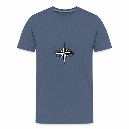Simpel Kompas Design. - Teenager Premium T-shirt