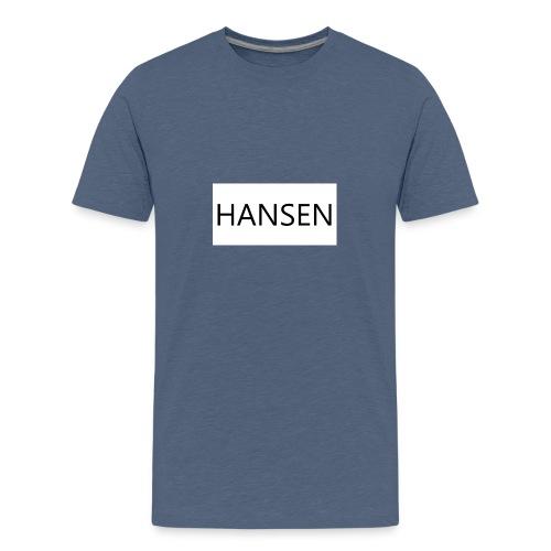 HANSENLOGO hvid - Teenager premium T-shirt