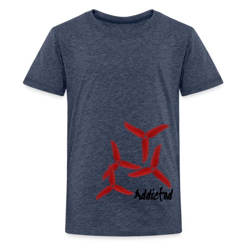 addicted (black) with props (red) - Teenager Premium T-shirt