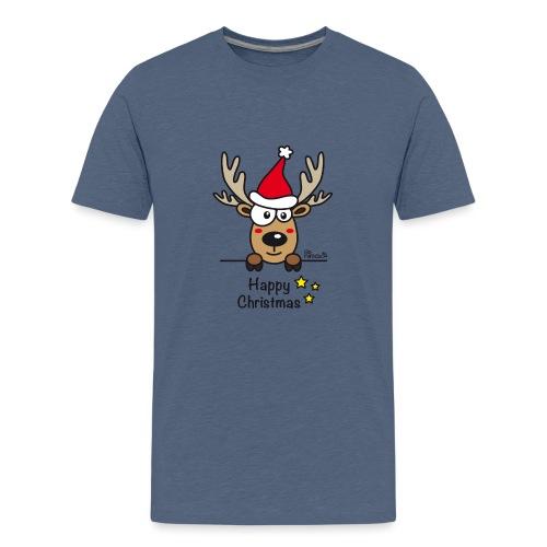 Renne Joyeux Noël - Happy Christmas, Humour, Drôle - T-shirt Premium Ado