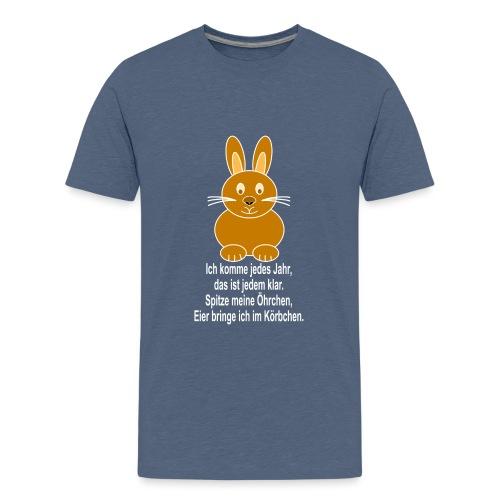Hase mit weisser Schrift - Teenager Premium T-Shirt