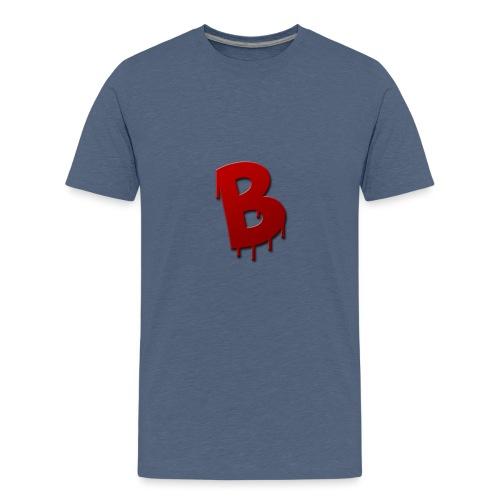 4k logo rood - Teenager Premium T-shirt
