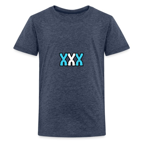 XXX (Blue + White) - Teenage Premium T-Shirt
