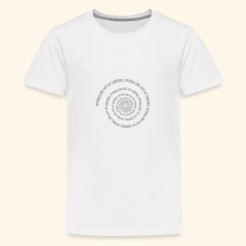 SPIRAL TEXT LOGO BLACK IMPRINT - Teenage Premium T-Shirt