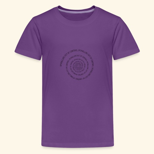 SPIRAL TEXT LOGO BLACK IMPRINT - Teenage Premium T-Shirt