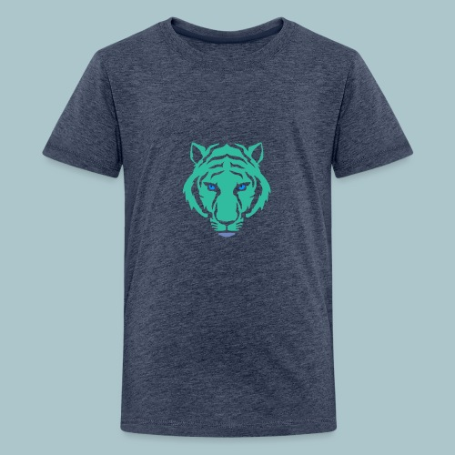 tijger blauw - Teenager Premium T-shirt