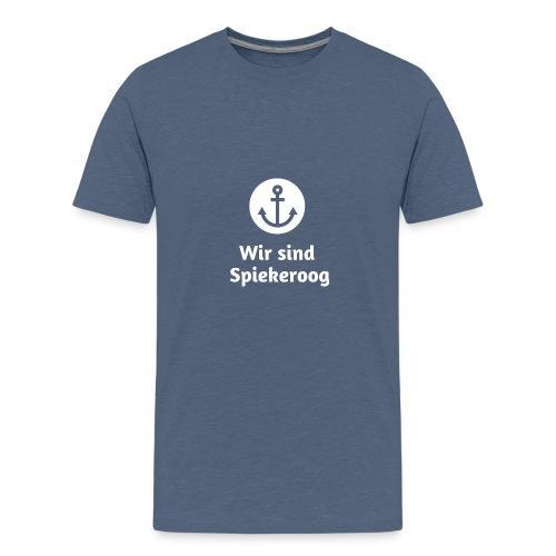 Wir sind Spiekeroog Logo weiss - Teenager Premium T-Shirt