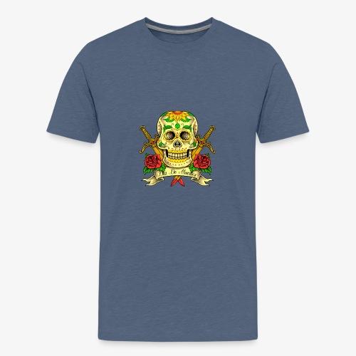 Schädel des Tages der Toten - Teenager Premium T-Shirt