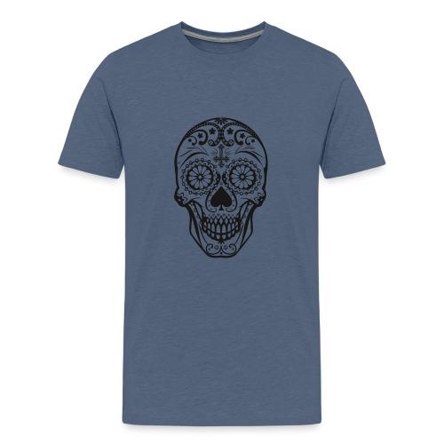 Skull black - Teenager Premium T-Shirt