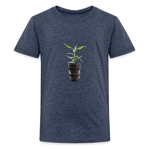 Pflanze im Objektiv - Teenager Premium T-Shirt