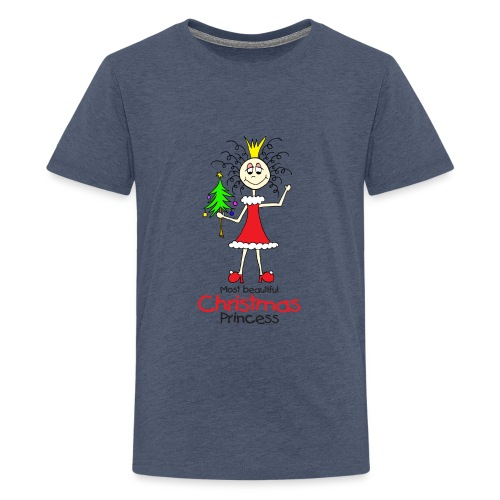 Most beautiful Christmas Princess - Teenager Premium T-Shirt