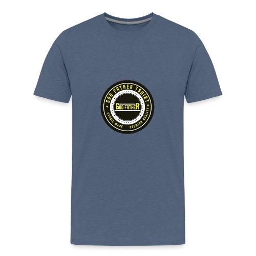 GOD FATHER LOGO 1 - Teenage Premium T-Shirt