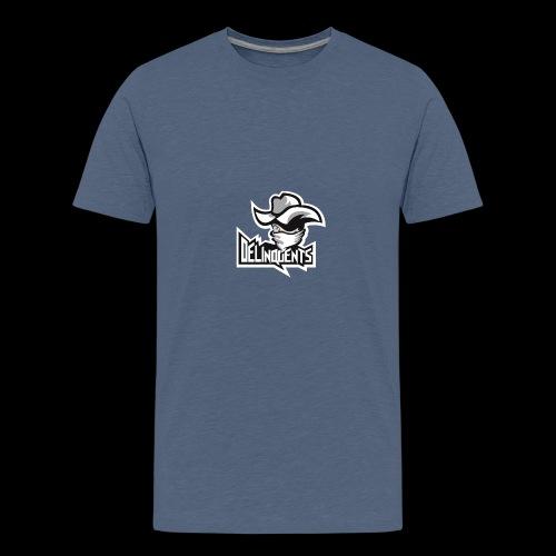 Delinquents Hvidt Design - Teenager premium T-shirt