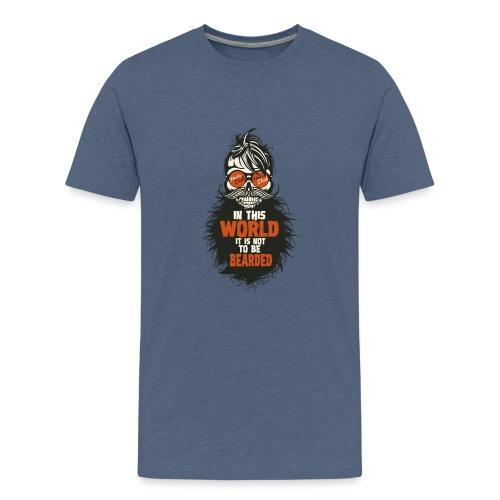 tete de mort citation hipster skull crane humour w - T-shirt Premium Ado