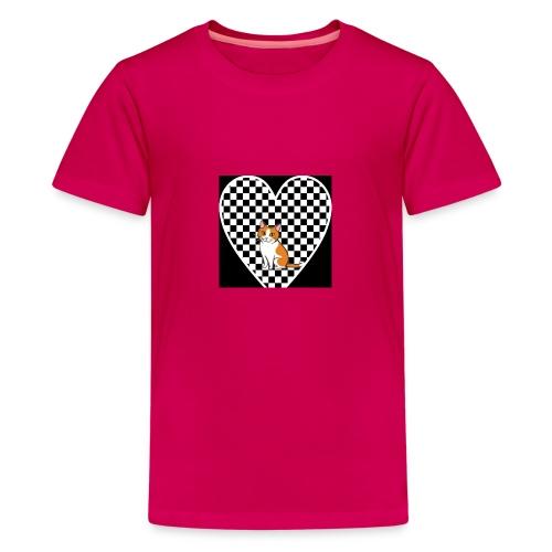Charlie the Chess Cat - Teenage Premium T-Shirt