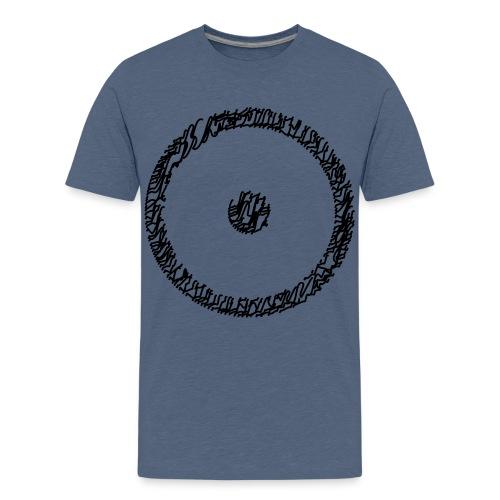 Wegzeichen Ziel erreicht- Stift - Farbe wählbar - Teenager Premium T-Shirt