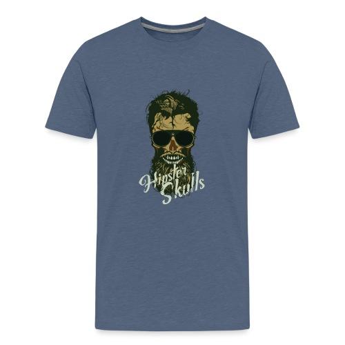 tete de mort hipster crane skull lunette de soleil - T-shirt Premium Ado