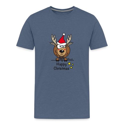 Renne Noël, Happy Christmas, Drôle, Humour, Santa - T-shirt Premium Ado