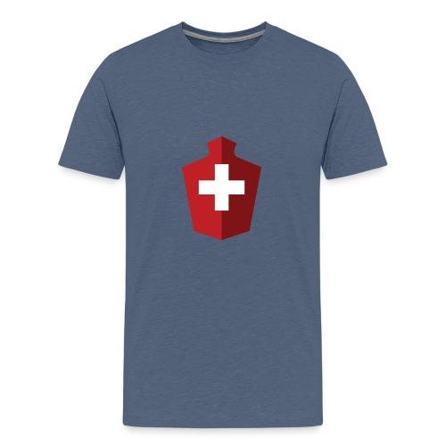 Schweizer Flagge - Schweiz - Teenager Premium T-Shirt