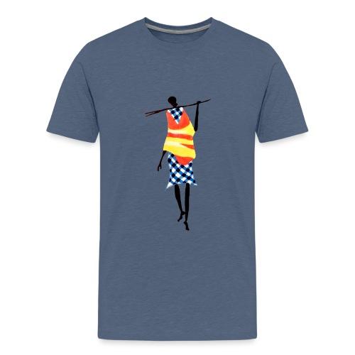 1 Man Stick Frit - Stor - Teenager premium T-shirt