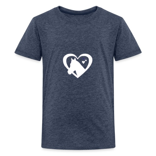 horse heart - Teenager Premium T-shirt
