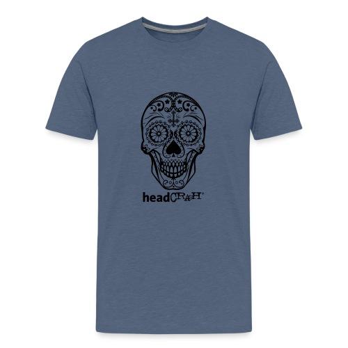 Skull & Logo black - Teenager Premium T-Shirt