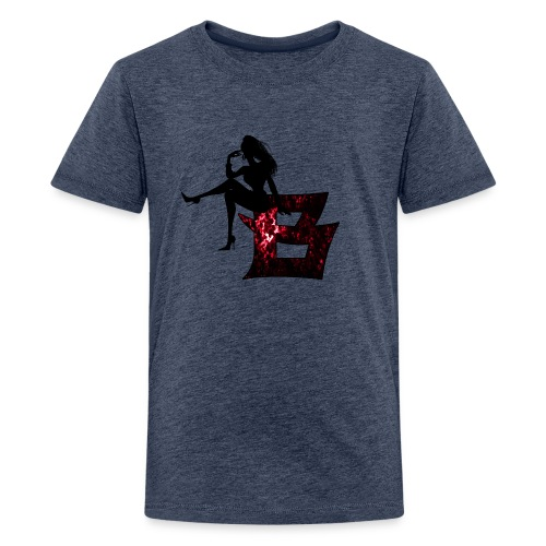 Sitting Woman Silhouette 2 png - Teenager Premium T-Shirt