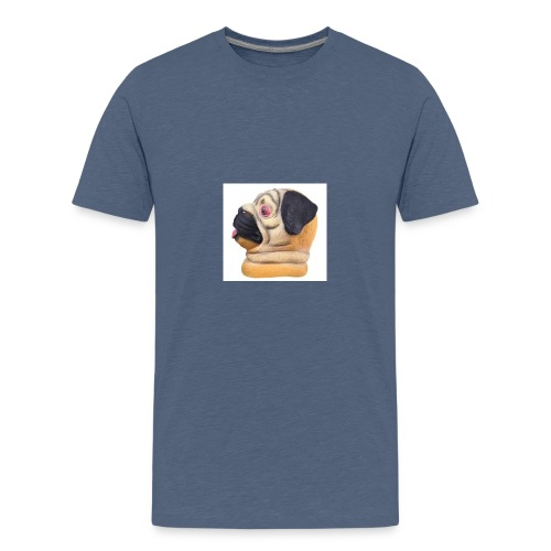 A larger DJ Pug - Teenage Premium T-Shirt