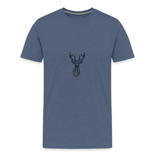 Deer Head - Camiseta premium adolescente