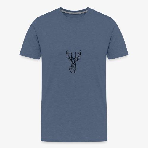 Ciervo geometrico - Camiseta premium adolescente