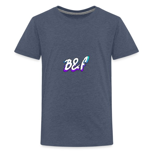 Purple and Blue Fade - Teenage Premium T-Shirt