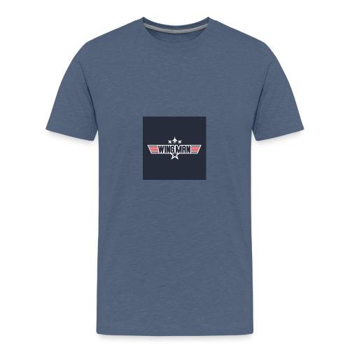 top gun wingman design - Camiseta premium adolescente