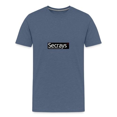 logo valkoinen teksti - Teinien premium t-paita