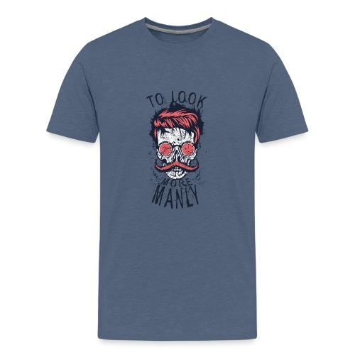 tete de mort crane hipster logo coiffure skull cit - T-shirt Premium Ado