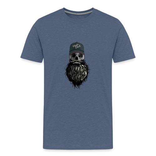 tete de mort hipster casquette logo skull barbu cr - T-shirt Premium Ado