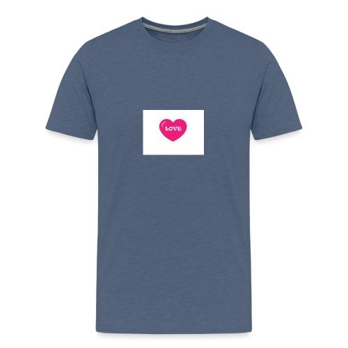 Spread shirt hjärta love - Premium-T-shirt tonåring