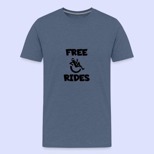 Ik geef gratis rijden met mijn rolstoel - Teenager Premium T-shirt