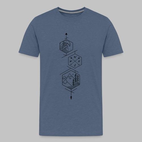hexagones - Teenage Premium T-Shirt