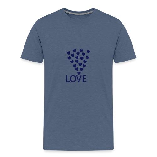 LOVE Herz - Teenager Premium T-Shirt