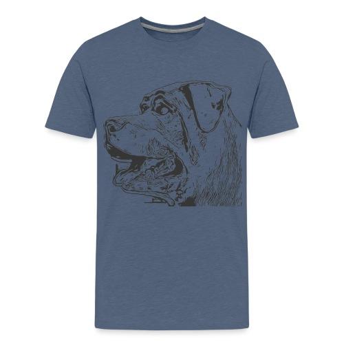 Rottweiler Mund offen schwarz - Teenager Premium T-Shirt