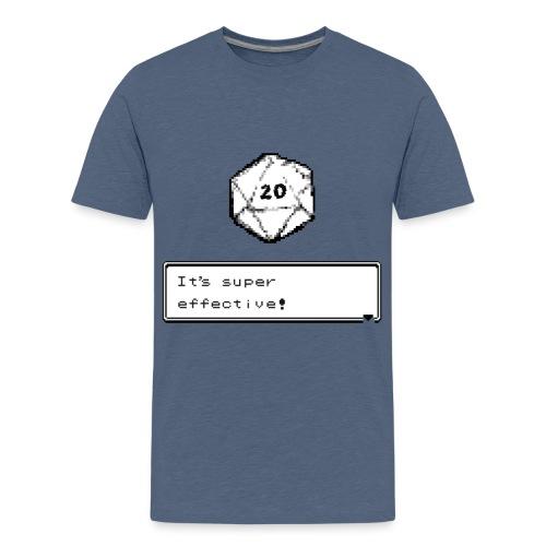 Kriittinen osuma d20 Super Effective! - D & D Dnd - Teinien premium t-paita