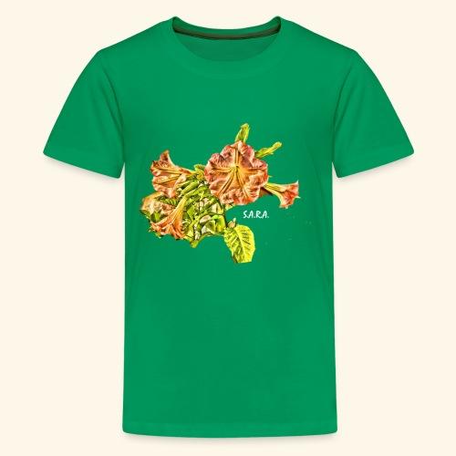 Trompetenbaum Blüten von S.A.R.A. - Teenager Premium T-Shirt