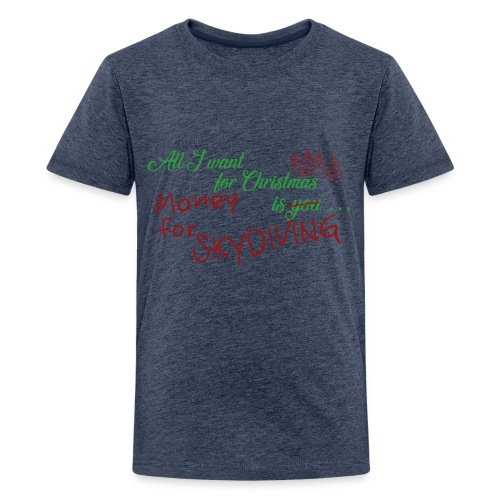 All I want for Christmas grün-rot - Teenager Premium T-Shirt