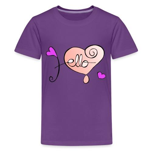 Hello Herz. - Teenager Premium T-Shirt