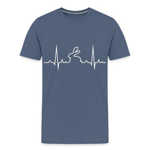 EKG Herzschlag Hase Kaninchen Zwergkaninchen - Teenager Premium T-Shirt