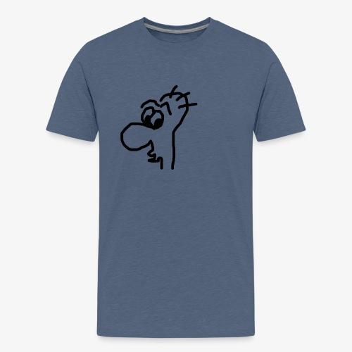 Gesicht mit großer Nase - Teenager Premium T-Shirt